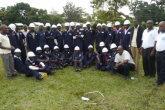 Defensive Driving trainees with instructors