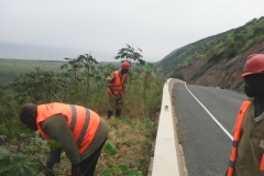 Road maintenance brigades clearing KingFisher road
